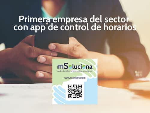 mSoluciona, primera empresa del sector con app de control de horarios